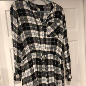 Gap Flannel Shirt Dress